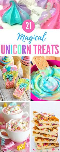 Here are 21 of the best unicorn treats we could find, with recipes for yummy DIY unicorn recipes that range from healthy treats to unicorn milkshakes and cookies. Unicorn Poop Cookies, Unicorn Cupcakes, Diy Unicorn Cake, Unicorn Rainbow Cake, Unicorn Oil, Rainbow Treats, Rainbow Food, Jasmin Party, Unicorn Milkshake