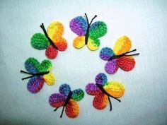 Crochet   Butterfly  Appliques/Embellishments