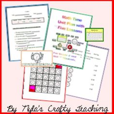 This is my MS Word version.  Through this unit the student will be able to understand how to tell time to the hour, half-hour, and quarter- hour.  ...