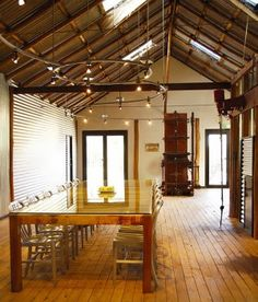 shearing shed house conversion Black Sheep Inn, Queenslander House, Staff Room, Wicker Chairs, Shed Homes, Furniture Placement, Beautiful Kitchens, Interior Decorating, Decorating Ideas