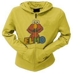 Sesame Street – Womens Elmo Head Juniors Hoodie  http://www.beststreetstyle.com/sesame-street-womens-elmo-head-juniors-hoodie/