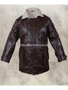 Dark Knight Rises Bane Coat Crocodile Distressed Grade A Real Leather Jacket