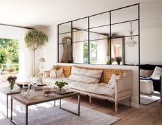 looking closer to the big windows Guest Room Office, Home And Living, Living Room Decor, New Homes, House Design, Interior Design, Furniture, Home Decor, Loft