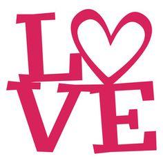 Silhouette Design Store: love title