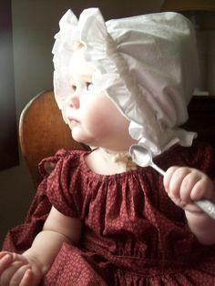 Romantic History: 1845-1855 Ruffled Baby Cap