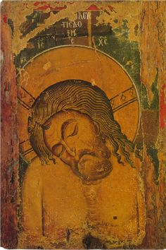 Processional icon of the Virgin Hodegetria (front) and the Man of Sorrows (back), last quarter of 12th century tempera and silver on wood overall size: 115 x 77.5 x 3.5 cm (45 1/4 x 30 1/2 x 1 3/8 in.) Byzantine Museum, Kastoria