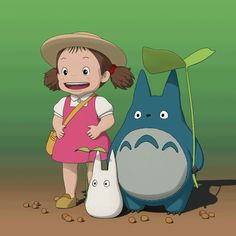 "This work is a fan art of ""My Neighbor Totoro"" It's toon render version. Studio Ghibli Art, Studio Ghibli Movies, Mei Totoro, Studio Ghibli Characters, Japanese Cartoon Characters, Japon Illustration, Girls Anime, Anime Japan, Character Design"