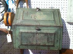 Antique metal box, West End Garage