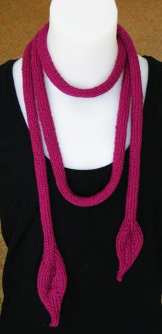 KELP SCARF - Handknitted Scarf/Necklace.  Can also be worn as a belt.