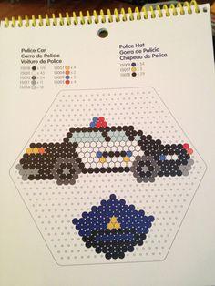 Perler beads police car