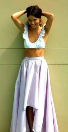 Top from Amore & Sorvete's Primrose bikini and a lilac colored high-low skirt...very feminine beach look