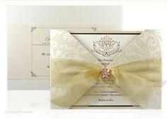 luxury, flocked, velvet, damask, letterpress, wedding invitation, hardcover, boxed