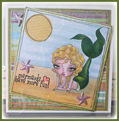 Magic Under the Sea at Oddball Art Stamps