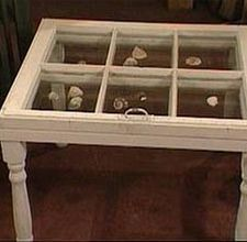 How to make a shadowbox coffee table - Finally figured out what to do with the 2 old farm windows I've been hanging onto