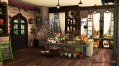 Lana CC Finds - rubyred-sims: The Sims 4 - Parisian Flower Shop.