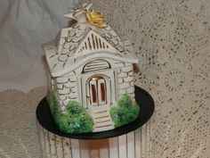Cottage Vanity Jar  Harriet Hubbard Ayer by HistoryHouseAntiques
