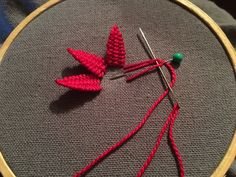 MooshieStitch — Another day - another woven picot flower