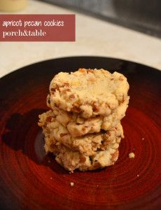 sweet treats: apricot pecan cookies - porch&table