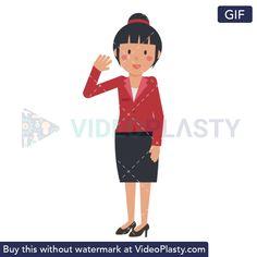 Animated Girl Clipart Gif 70