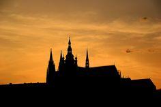 Prague on a beautiful summer evening