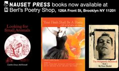 Three Nauset Press titles now available at Berl's poetry in DUMBO. Or online http://www.nausetpress.com/#!book-shop-/cnec