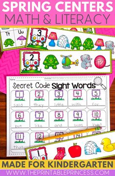 This spring literacy and math centers pack is perfect for spring-time in Kindergarten! Themes included in this packet are: all things spring, flowers and pots, insects and nets, butterflies, birds, spring kids, rainbows, farm animals, frogs and ponds.