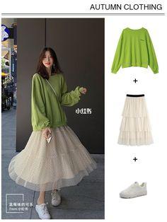 Korean Girl Fashion, Korean Street Fashion, Asian Fashion, Look Fashion, Korean Outfit Street Styles, Korean Outfits, Kpop Fashion Outfits, Hijab Fashion, Casual Teen Fashion