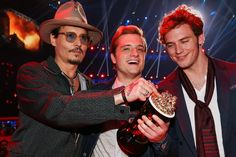 Johnny Depp, Josh Hutcherson, and Sam Clafflin