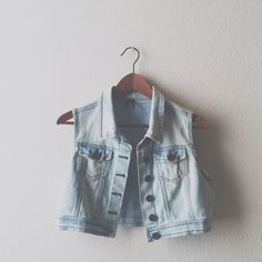 Denim Vest Light wash denim vest.  Measures 17 inches long.  Size: medium, but can also fit small.  Lightweight and great for adding a little extra to your outfit. Jackets & Coats Vests
