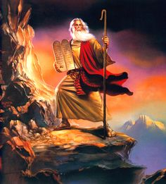 Moses and the Ten Commandments by a Fan