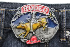 New Men Women Belt Buckle Silver Metal Western Fashion Riding Bull Rodeo 3D Hat  | eBay