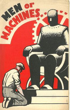 Pamphlet published from the TUC expressing concerns by the workers about the rise in machinery