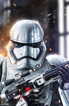 Star Wars - Episode VII Stormtrooper - Will Falcone Ver Star Wars, Star Wars Fan Art, Star Wars Pictures, Star Wars Images, Starwars, Nave Enterprise, Stormtroopers, Tableau Star Wars, Star Wars Zeichnungen