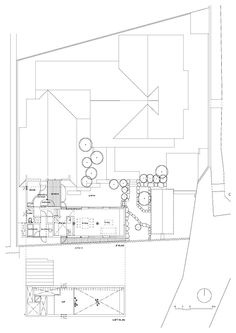 Magnificent Modern Residence You Should Choose: Versatile  Section Plan In Garden Tree With The All Of Object Fill Up The Room And Large Are...