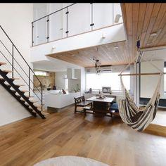 shiiimay114さんの、部屋全体,ハンモック,木,新築,マイホーム,リビング階段,注文住宅,二世帯住宅,カルフォルニアスタイル,パナホーム ,Pana Home,子世帯,のお部屋写真