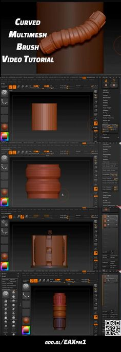 Video tutorial on how to create curved multimesh brush in ZBrush. https://www.youtube.com/watch?v=PqvjxHfU4PI&t=507s&index=35&list=PL4A1A8B1280A9492A #zbrush #tutorial #brush #multimesh