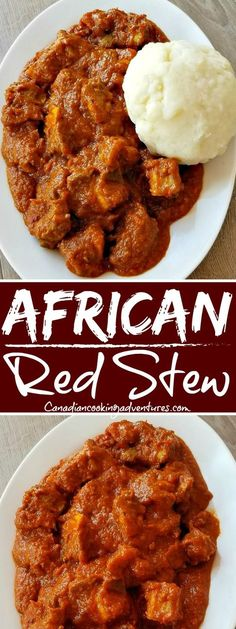 African Red Stew African Red Stew Related posts: TOP 20 Must Eat American Food German Skillet with Mustard Cream Sauce Russian Piroshki (Meat Hand Pies) African Beef Stew Goat Recipes, Indian Food Recipes, Chicken Recipes, Cooking Recipes, Healthy Recipes, Ethnic Recipes, Nigerian Food Recipes, African Stew, Beef Recipes