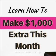 How to make money online this week. The best ways to earn passive income for students and homemakers who want to make money from home in their free time!