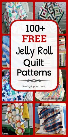Free Quilt Patterns for Jelly Roll Quilts. Free Jelly Roll quilt patterns, sewing tutorials, and diy projects great for use with jelly roll fabric strips. Many simple designs easy enough for beginners to sew. Diy Sewing Projects, Sewing Projects For Beginners, Sewing Hacks, Sewing Tutorials, Sewing Tips, Sewing Crafts, Diy Quilting For Beginners, Crazy Quilt Tutorials, Diy Crafts