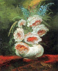 Van Gogh / Vase with peonies