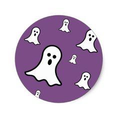#Little Ghosts Halloween Sticker - #Halloween #happyhalloween #festival #party #holiday