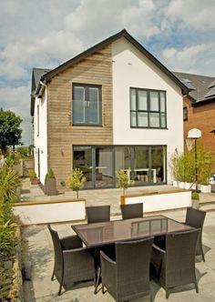 Larch Cladding, House Cladding, Facade House, External Cladding, External Render, Cottage Design, House Design, Windows 20, Upvc Windows