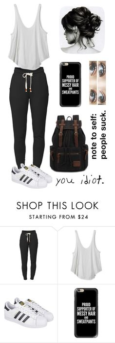 """""""Untitled #50"""" by uunicornns ❤ liked on Polyvore featuring Lija, RVCA, adidas, Casetify, FACES Beautiful and Brinley Co"""