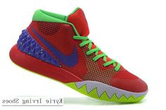 59d9f97b3f85 Nike Kyrie Irving 1 Red Purple Grey Green