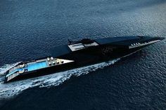 Striking mega yacht BLACK SWAN concept by Timur Bozca. Measuring impressive 70 meters in length over all, mega yacht Black Swan concept has been beautifully designed by the young Turkish yacht &. Yacht Design, Boat Design, Deck Design, Super Yachts, Speed Boats, Power Boats, Swan Yachts, Ski Nautique, Yacht Boat