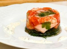 Kabaret med skalldyr og laks | Fru Timian Cabaret, Tapas, Sushi, Shrimp, Ethnic Recipes, Google Translate, Sushi Rolls