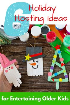 6 Easy & Fun Holiday Activities for Older Kids | The Mom Kind  Looking for holiday activities for older kids? Check out these top 6 Holiday Hosting Ideas for Entertaining Older Kids this year! #holiday #Christmas #crafts #parenting
