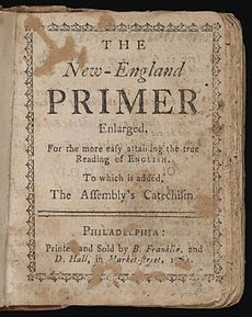 The New England Primer was the first reading primer designed for the American Colonies. It became the most successful educational textbook published in 18th century America and it became the foundation of most schooling before the 1790s.
