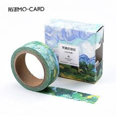 Morado Con Blanco Remolino Papel Washi Masking Tape 15mm X 10 Metro Rollo
