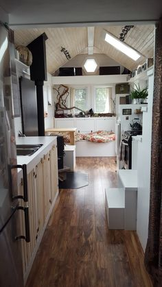 A 238 sq ft tiny house, designed and built by Full Moon Tiny Shelters.